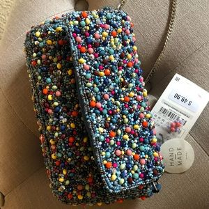 Zara pearl beaded crossbody
